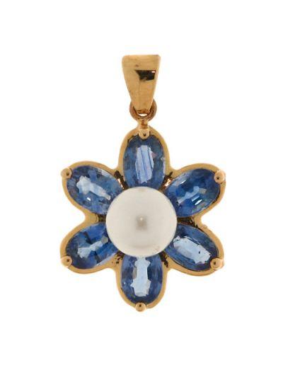 Un superbe pendentif saphir en forme de fleur - Vuillermoz