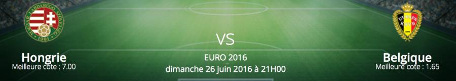 Pronostic Hongrie / Belgique