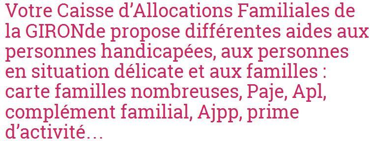 Caf-info.org vous renseigne sur les prestations de la Caf en Gironde et dans d'autres localités